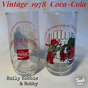 1978 Coca Cola Holly Hobbie collectible glasses